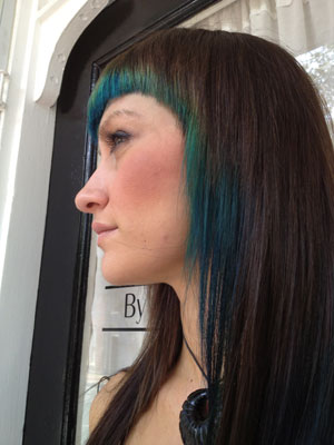 HOW TO: Peacock-Inspired Hair Color