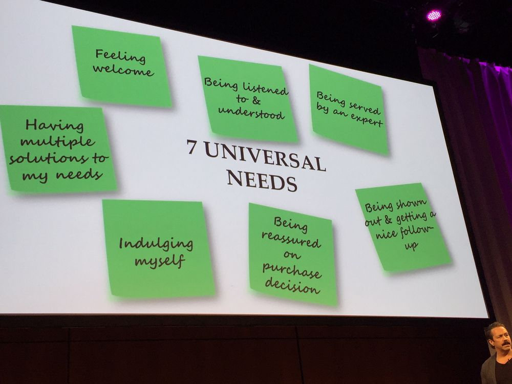 Seven universal needs, courtesy Gavin Hoare.