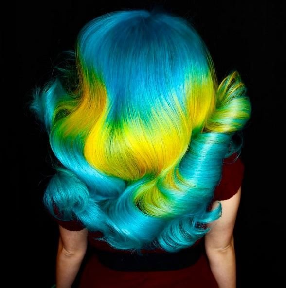 Phil Ring is knowns for his out-of-the box hair color designs.Check out more of his designs on his Instagram page @phildoeshair.