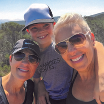 Keri Davis-Duffy (right) with her wife, Laura Davis-Duffy, and their son Shaia.