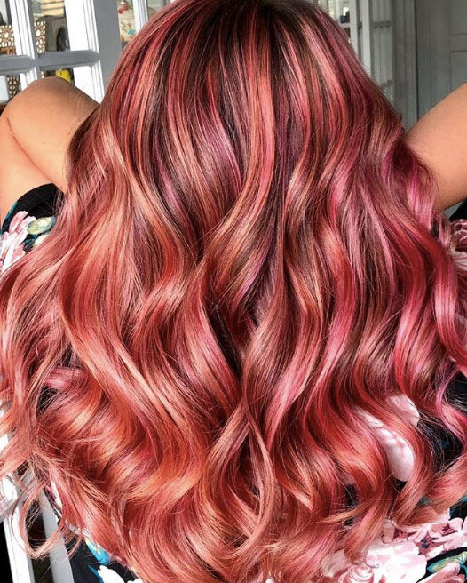 The perfect fall pink created using Goldwell @Pure Pigments, with two-times the fade resistance by Sydney Ann Lopez.
