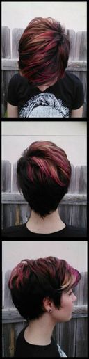 How To: Short Hair with Pravana Vivids Pink and Blonde Ombre