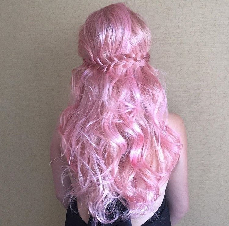 Pink Lady with Paul Mitchell Color