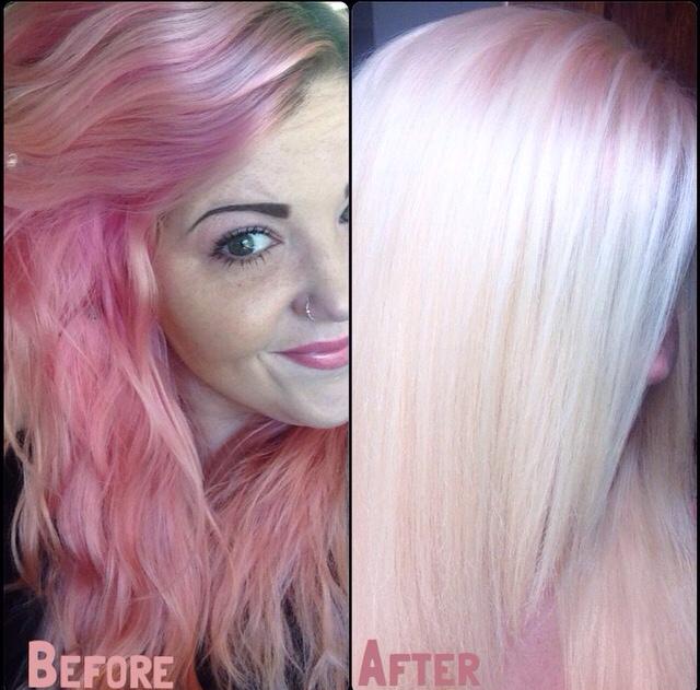 Softening Pink Hair