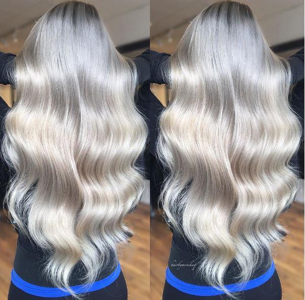 White Waves:  Cool, Platinum Blonde