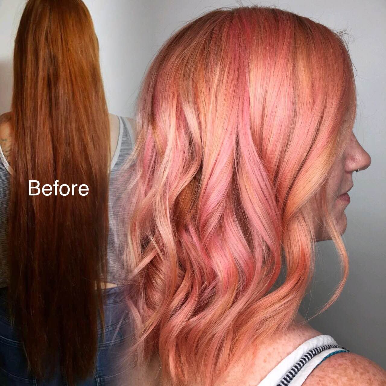Makeover: Crazy Long To Dimensional Pink/Rose Gold