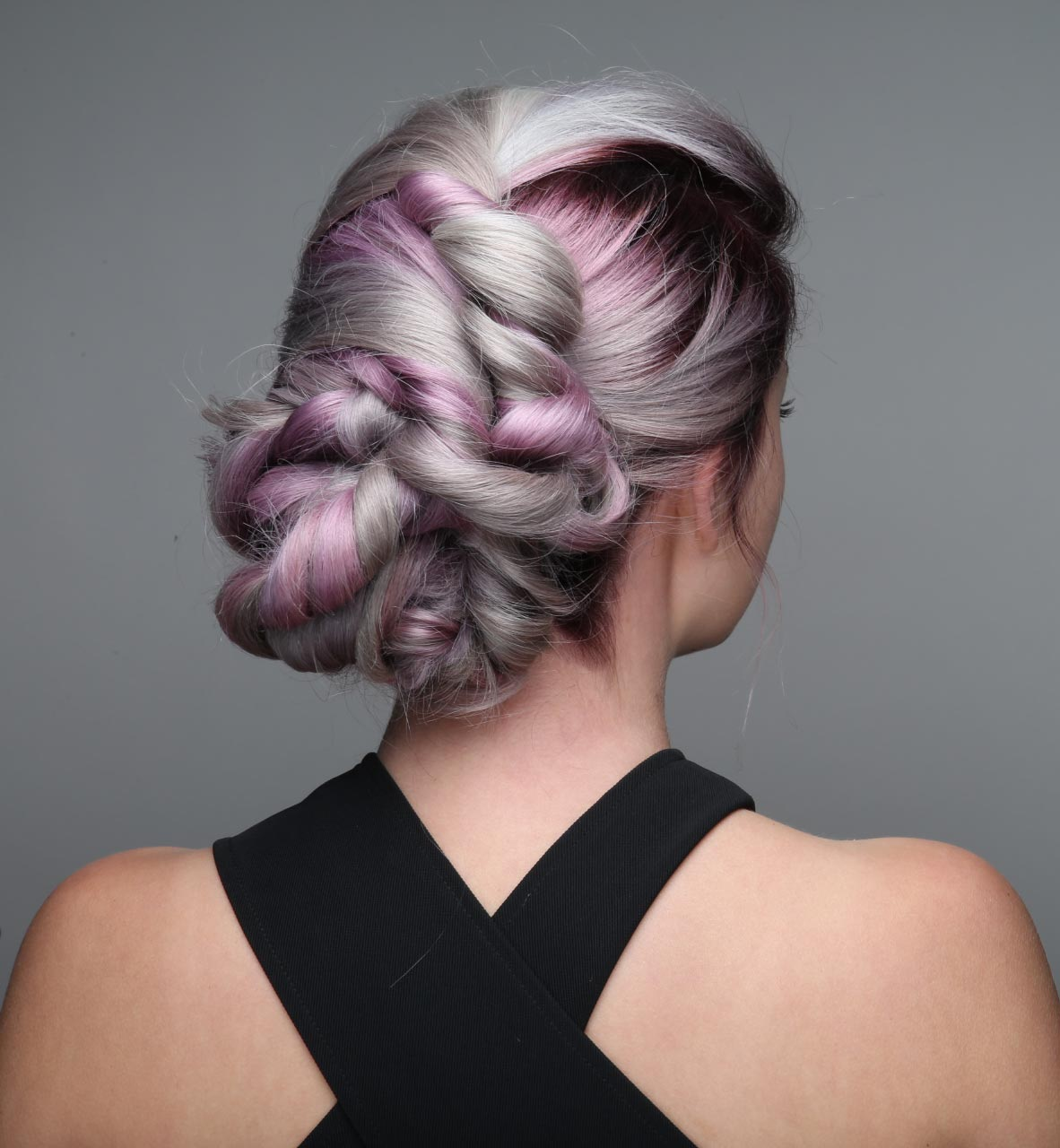 HOW-TO: Smokey Lavender Hair Color with Face-Framing Silver Accent & Root Shadow