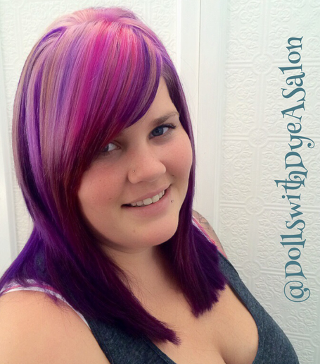 HOW-TO: Magenta/Pink Hair Color Using Pravana & ColorMelting