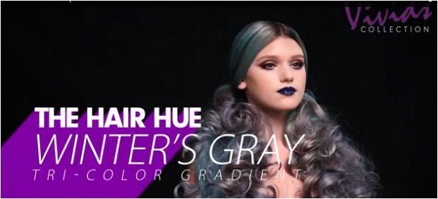 First Look: New Pravana Video on Creating a Silver and Blue Gradient Hair Color