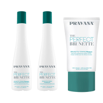 The Perfect Brunette From Pravana: Teal Toning Eliminates Brassy Tones in Brunette Color