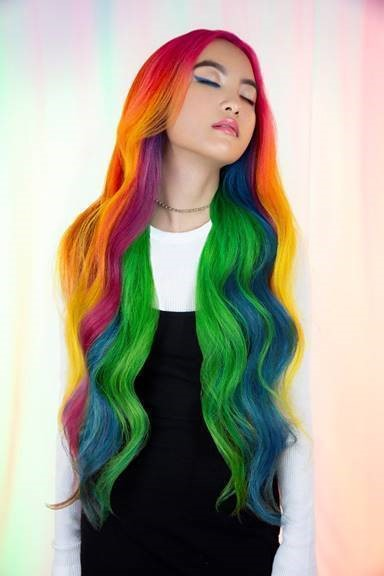 PRAVANAArtistic Educator and #showusyourvivids educator contest winner Hannah Lovin was challenged to create a '90's cereal-inspired hair color look! With the most colorful and fruitiest cereal as her muse, Lovin created Froot Loops look complete with ALL the hues! Pravana