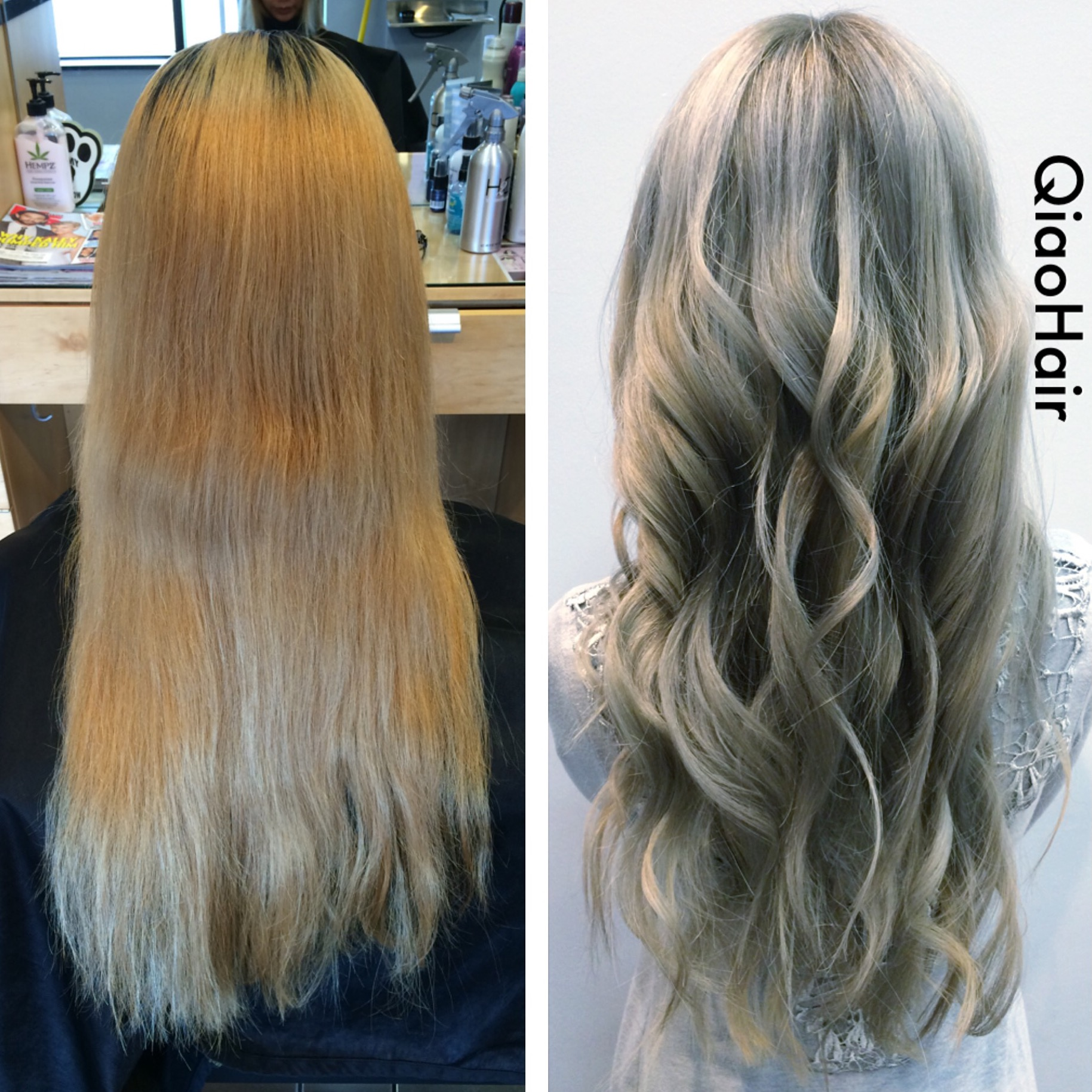 TRANSFORMATION: Blonde To Rooty Silver Blonde