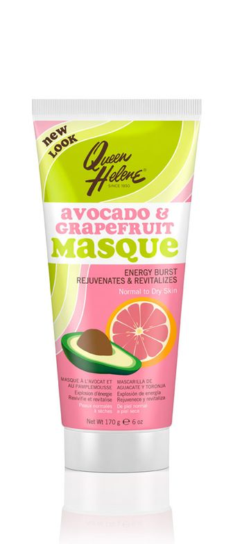 """""""When we designed this formula, we were aiming to offer a clay formula that is not over-drying, so that consumers with dry skin could still receive the cleansing benefit from a clay masque,"""" says Nathalie Yin, Director of Marketing, Personal Care of The Hain Celestial Group, Inc. """"Avocado was therefore included in the formula due to its moisturizing property."""" ... Avocado & Grapefruit Masque by Queen Helene"""