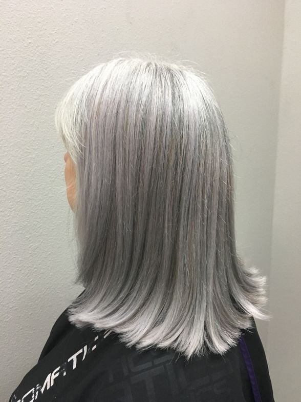 COLOR CORRECTION: Matching Natural Silver Hair - Color ...