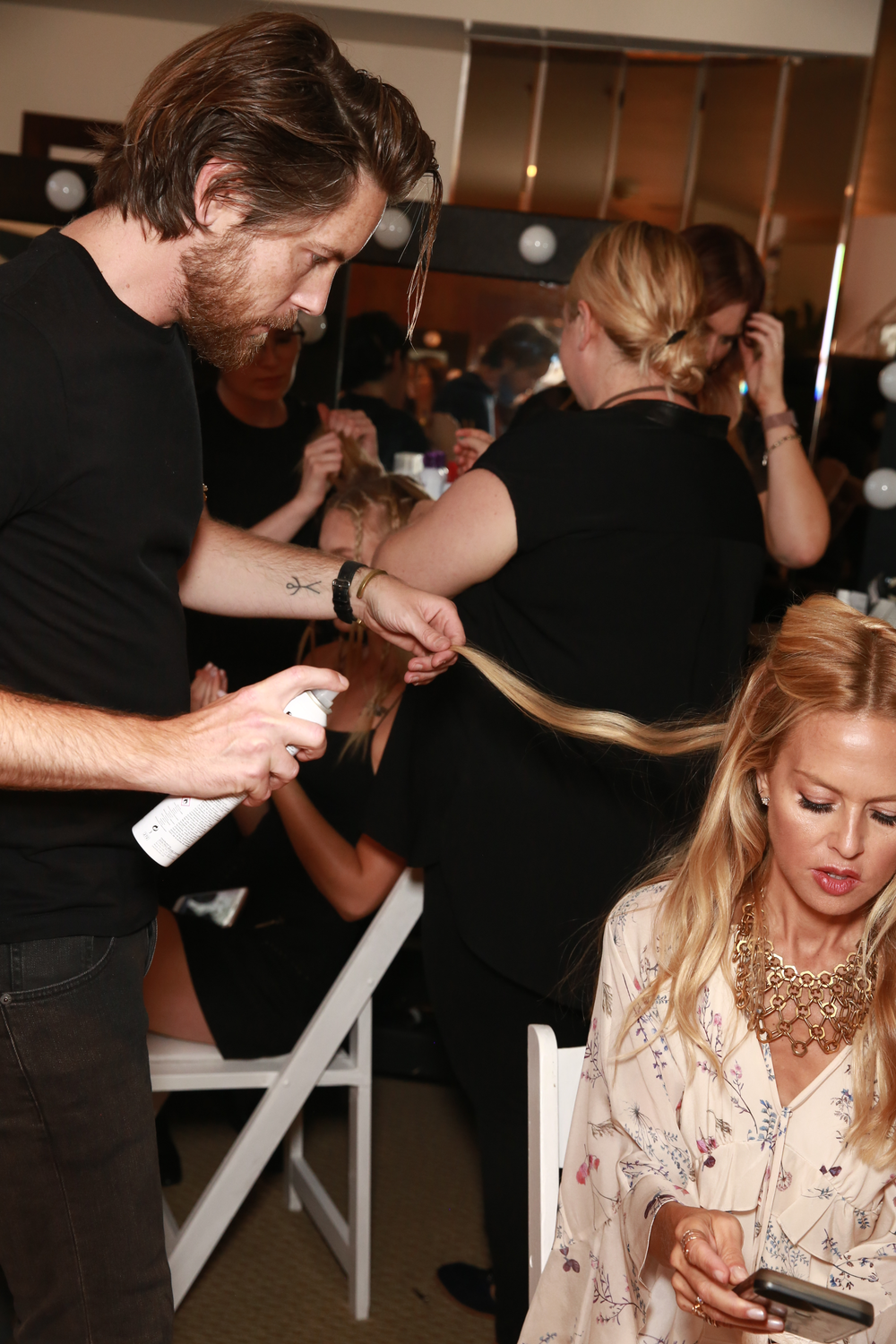 Rachel Zoe getting touched-up.