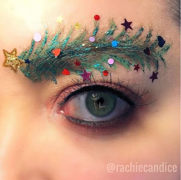 The Instagram brow takes a festive spin.
