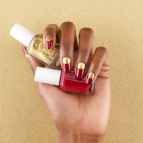 Nail How-To: Red and Gold Holiday Manicure