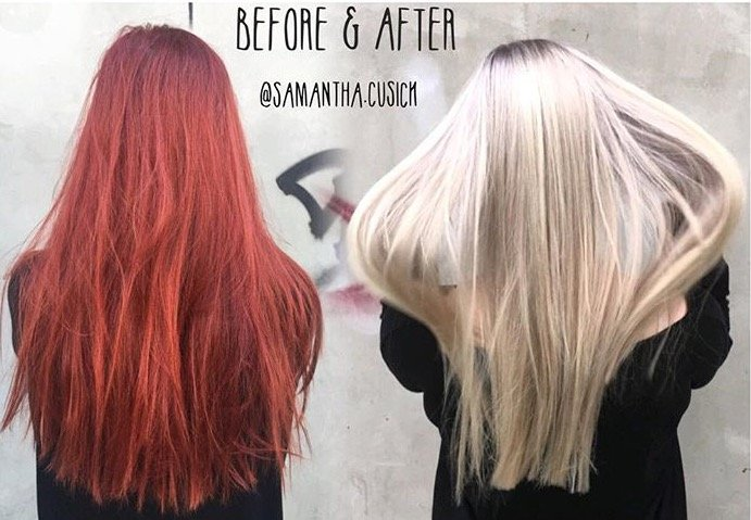 TRANSFORMATION: Gorgeous Red To Gorgeous Blonde