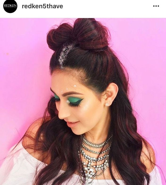 <p>Via @redken5thave. Redken and Nyx Cosmetics teamed up for a braid bar and makeup station at the fest.</p>