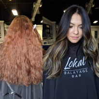 Hair Color Makeover: Dull Copper to Shiny, Dimensional Brunette