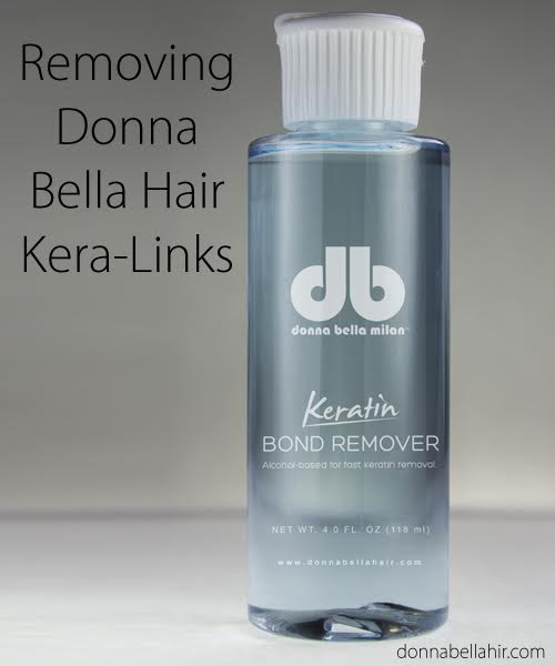 How to Remove Donna Bella Hair's Kera-Link Fusion Hair Extensions