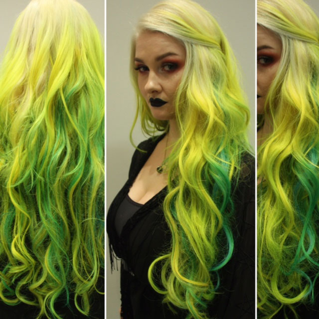 How-To: Yellow To Blue/Green Ombre