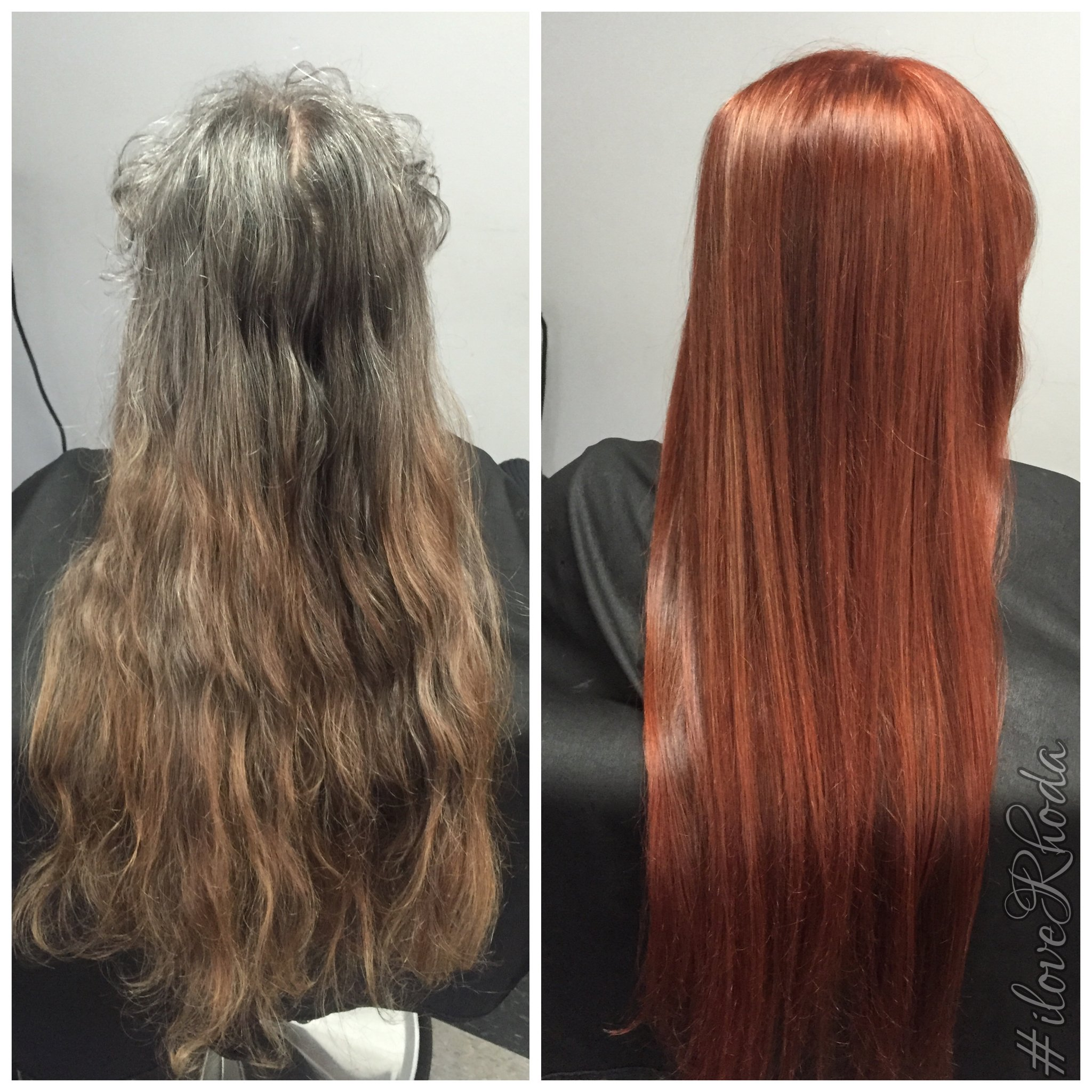 TRANSFORMATION: Grown-Out Box Color to Dream Red