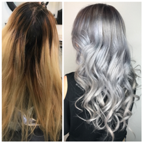 MAKEOVER: Grown-Out and Faded To Silver Melt