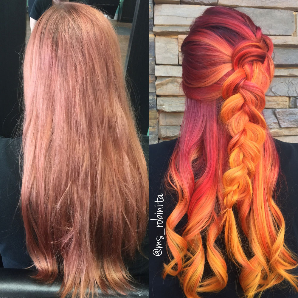 HOW-TO: Fiery Sunset Color Melt