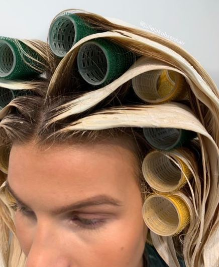 """""""This is great if you try to use less single use items like cotton, foils or plastic. It was no problem at all to get the rollers out, no stress washing them and I really love the way they separate each balayage piece from each other. If I had smaller rollers I'd definitely use them, at least from the ears up."""""""