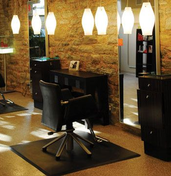 "THIRD RUNNER UP: ROOT St. Paul, Minnesota rootsalons.com  Owner: Jim Koktavy Salon established: April 2005 Opening after remodel: August 2008 Salon style: Organic, chic Square footage: 3,600 Styling stations: 11 Treatment rooms: 2 Equipment: Belvedere Furniture: Belvedere, custom Total design investment: $198,500 Top retail lines: Kerastase, Davines Design: Creative Consultants Architect: Peter Hilger  Judges comments: ""Use of existing vintage space a plus."" —Cicela  ""The relevance and preservation of existing architecture is fused with modern touches. The use of color in the reception and retail areas represents the salon as an active and creative environment."" —Soukhopalov"