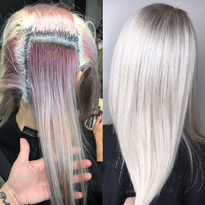 COLOR CORRECTION: Old-Fashioned to Icy Level 10 Blonde