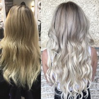 Babylights, Glam Wash, Toner and Extensions For Dramatic Makeover