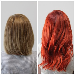 Makeoever by Alysha Cornetta using Donna Bella Extensions and Goldwell color.