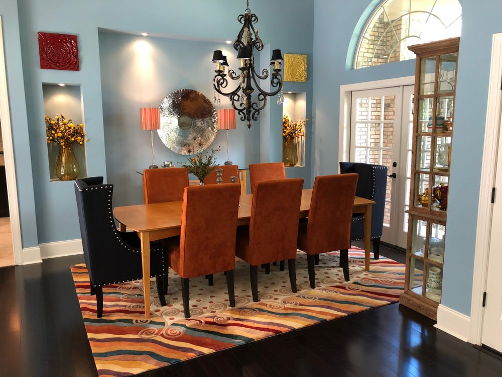The dining roomin Sam Villa's house in Fleming Island, Florida.
