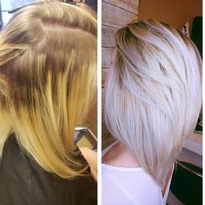 Same-Day Color Correction on Compromised Hair