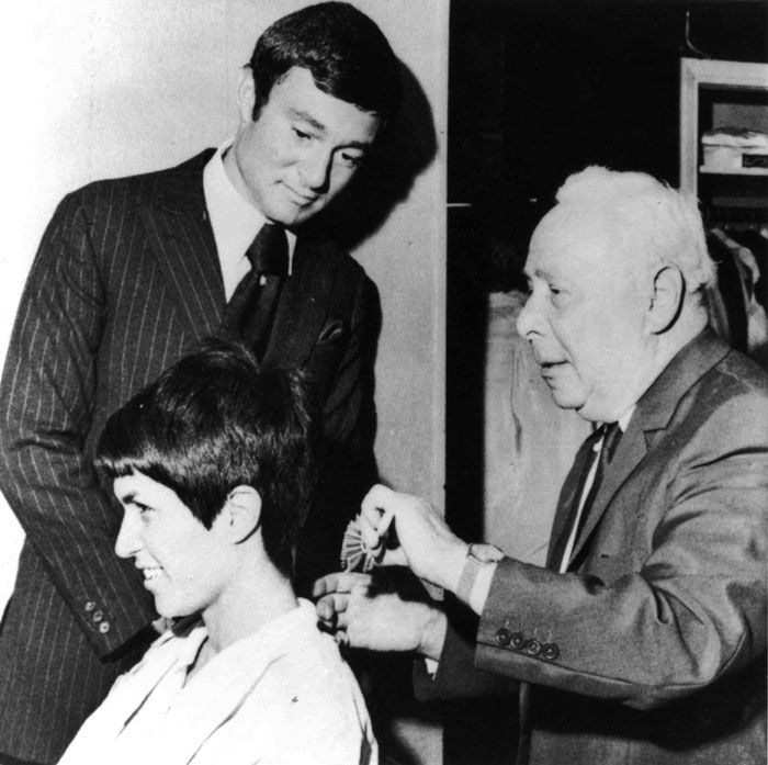 Vidal Sassoon with Adolf Cohen, who hired Sassoon as an apprentice at age 14.