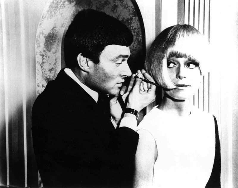 Vidal Sassoon with Carol Channing.  Image courtesy of Sassoon