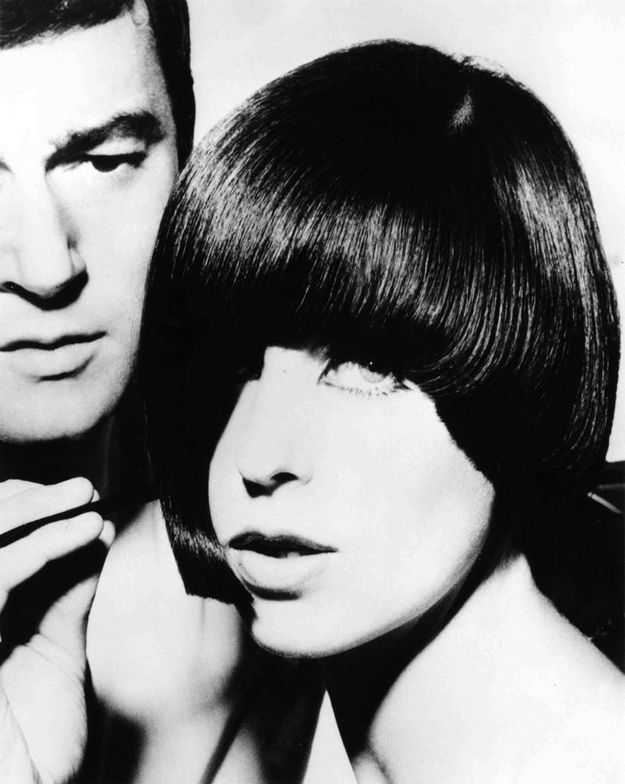 Vidal Sassoon with model Denae Brook.  Image courtesy of Sassoon