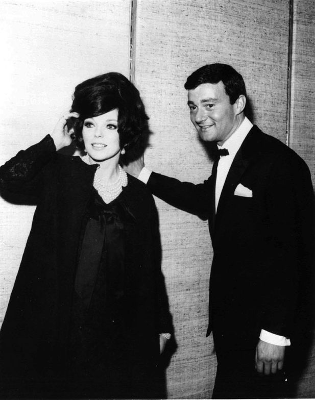 Vidal Sassoon with Joan Collins.  Image courtesy of Sassoon