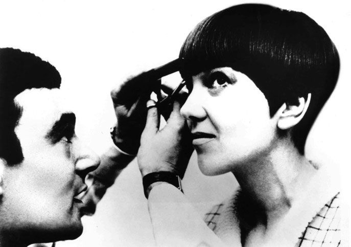 Vidal Sassoon with designer Mary Quant.  Image courtesy of Sassoon