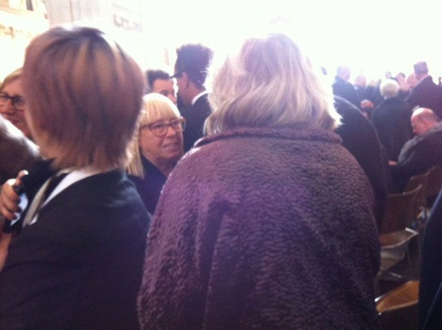 Annie Humphreys, swarmed by admirers and friends from Sassoon.