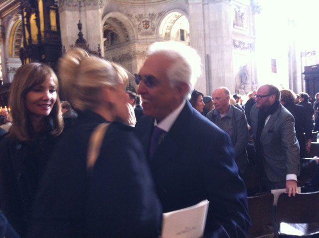 Fernando Romero greets Maggie.