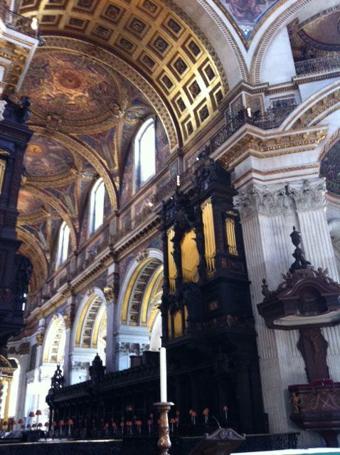 The interior of St. Pauls Cathedral.