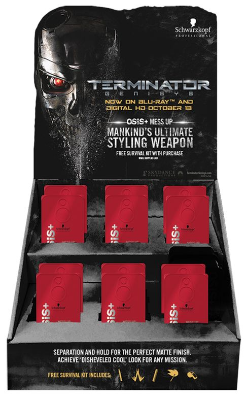 Schwarzkopf Professional's OSiS+ brand will launch a men's Mess-Up Survival Kit in October to coincide with the DVD release date for Terminator Genisys.