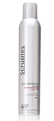 <strong>Scruples HighDefinition Hair Spray:</strong>Create a workable canvas to shape and finish styles. Gives hair extra volume with an all-day hold!