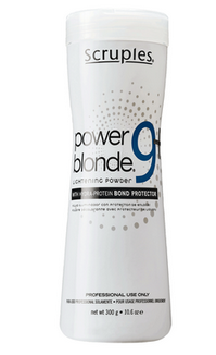 <strong><strong>Scruples Power Blonde 9+ Lightener:</strong></strong> <p>Lighten up to 9 levels and beyond with ultra fast lifting + enhanced conditioning on natural or color treated hair.</p>
