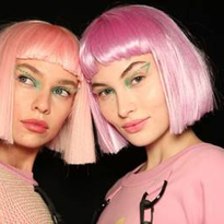 GHD Styles Neon Wigs for Jeremy Scott Runway Show