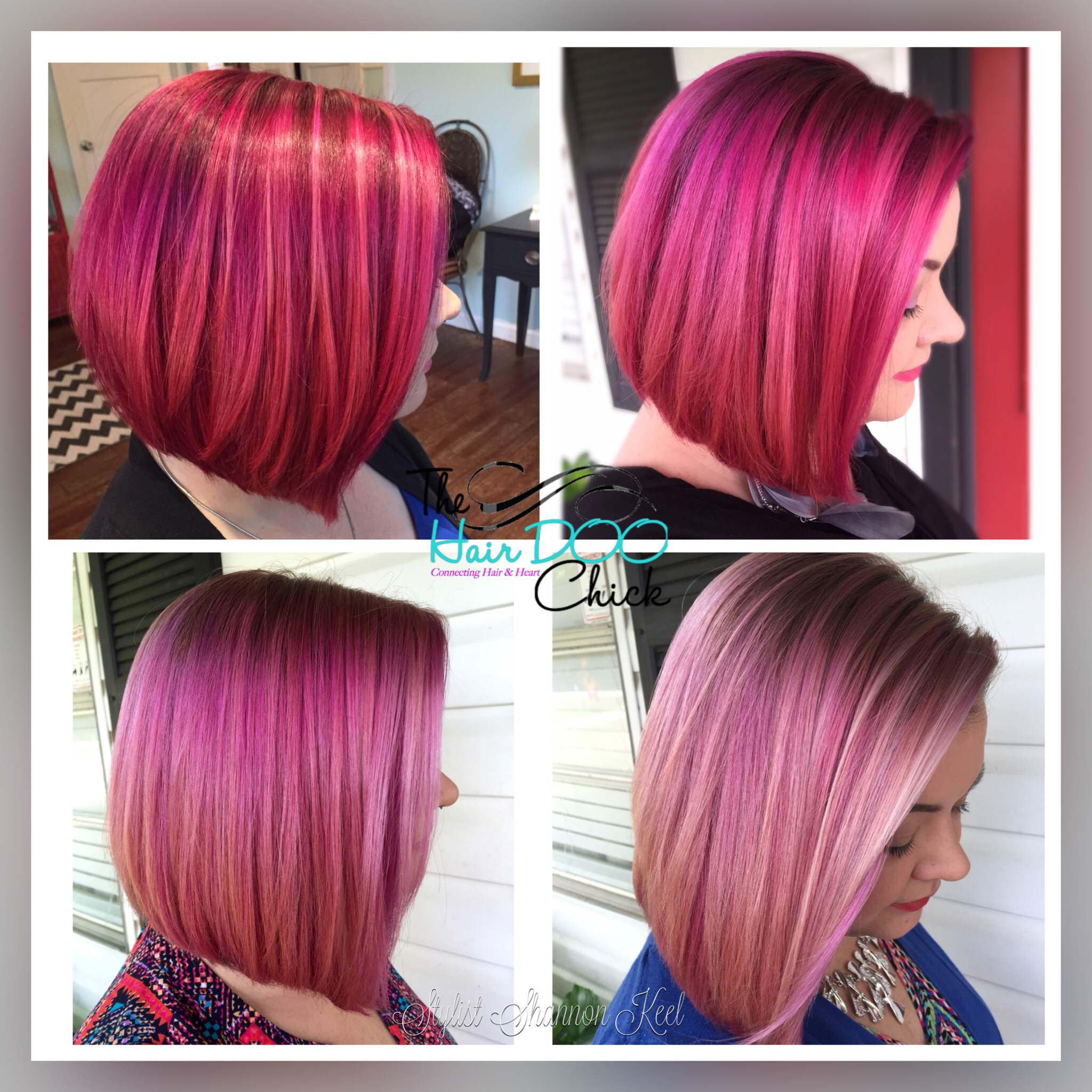 The Four-Week Evolution of Pink Hair