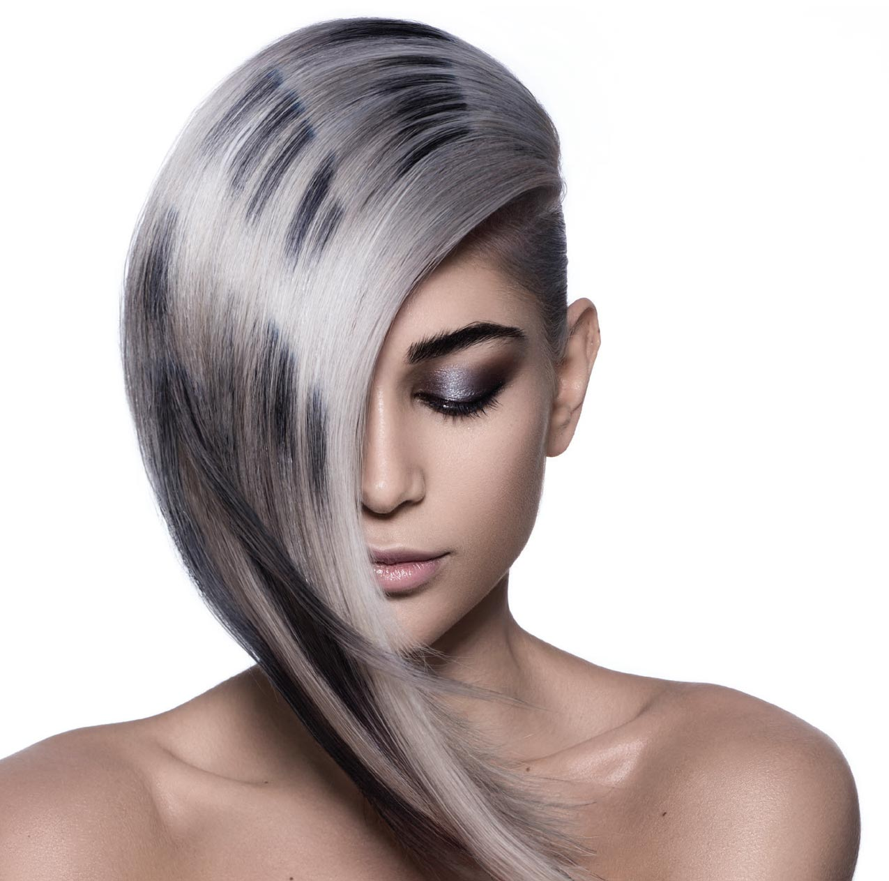 HOW-TO: Smoked Silver Hair Color With Depth and Darkness